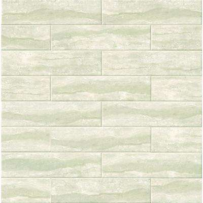 Marmi Grigio Gray 4 in. x 16 in. Glazed Ceramic Wall Tile (11 sq. ft. / case)