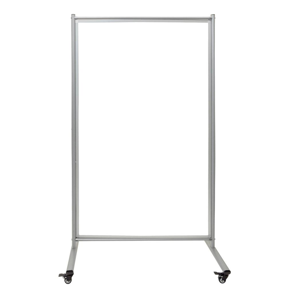 40 in. x 72 in. Mobile Magnetic Whiteboard Room Divider