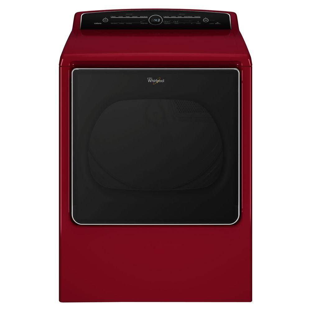 Whirlpool Cabrio 8.8 cu. ft. High-Efficiency Gas Dryer with Steam in Cranberry Red