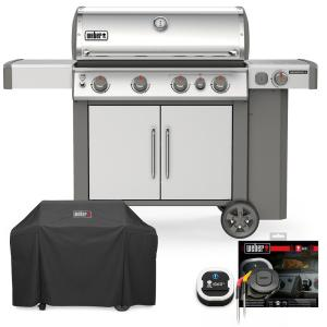 WEBER Genesis 6 Burner Premium Patio Gas Grill Cover All Weather Water Resistant