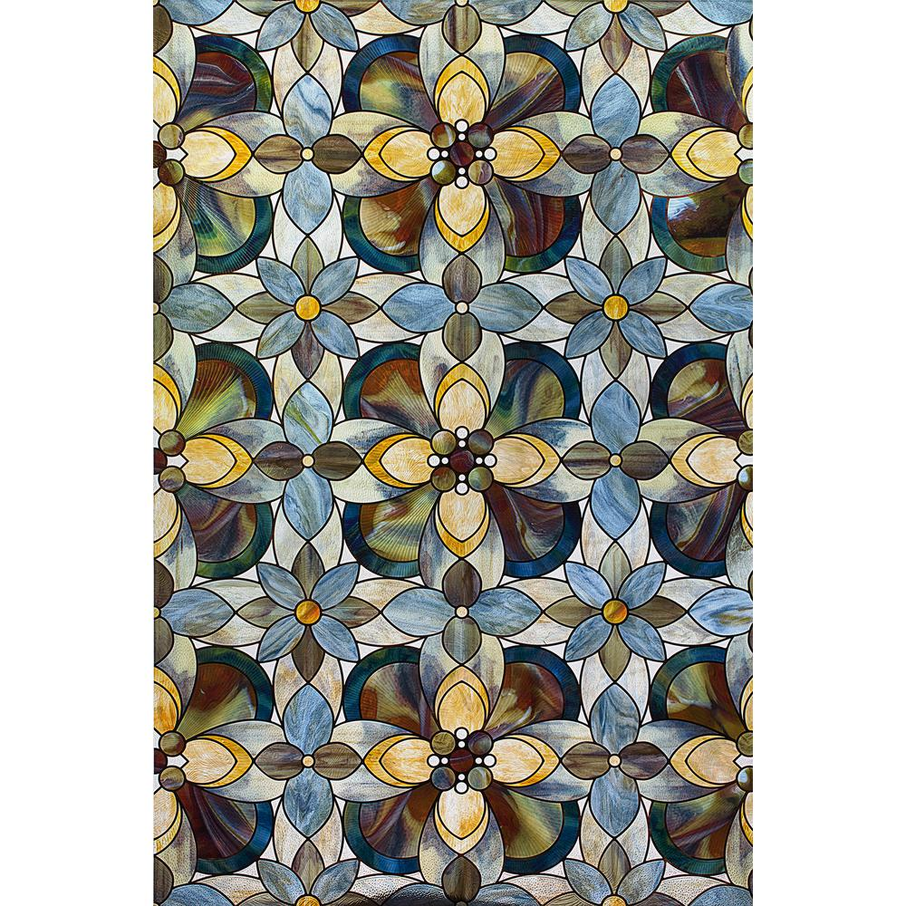 24 in. x 36 in. Quatrefoil Decorative Window Film