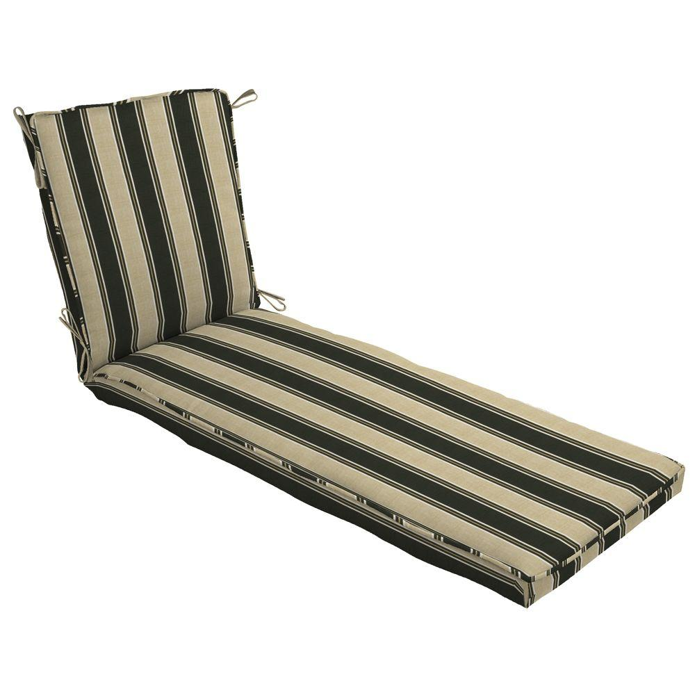 Arden Twilight Stripe Single Welt Outdoor Chaise Cushion-DISCONTINUED