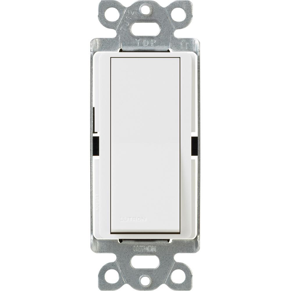 Lutron Claro 15 Amp Single-Pole Paddle Switch - White