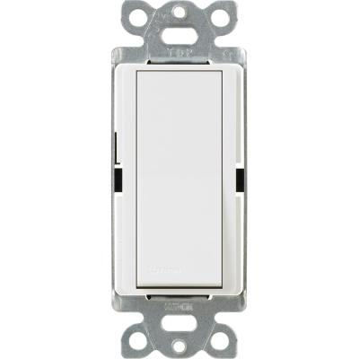 Claro 15 Amp Single-Pole Paddle Switch - White