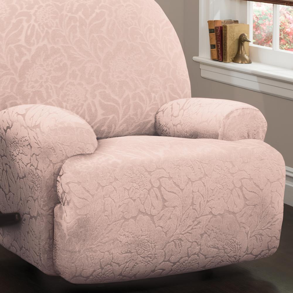 Wondrous Stretch Floral Jumbo Recliner Slipcover Ibusinesslaw Wood Chair Design Ideas Ibusinesslaworg