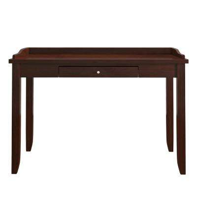Ingrid Espresso Writing Desk