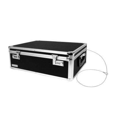 Locking Storage Chest with Tether Double Combination Locks, Black
