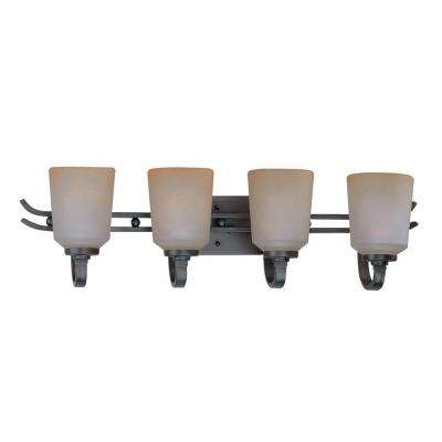Designer Collection 4-Light Copper Wall Bath Vanity Light