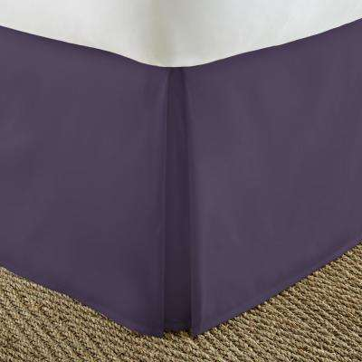 Pleated Dust Ruffle Purple Queen Performance Bed Skirt