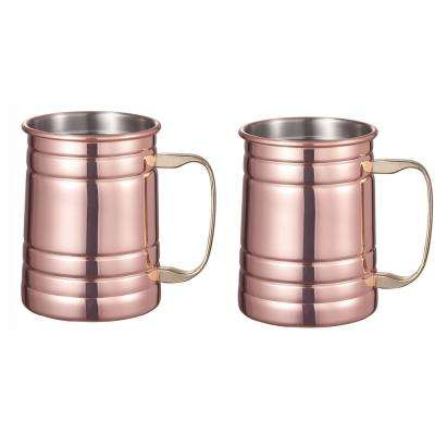 Brinker Copper Plated Moscow Mule Mug Set