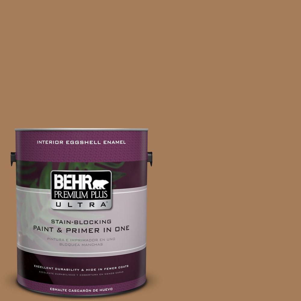 BEHR Premium Plus Ultra 1-gal. #270F-6 Fudge Truffle Eggshell Enamel Interior Paint