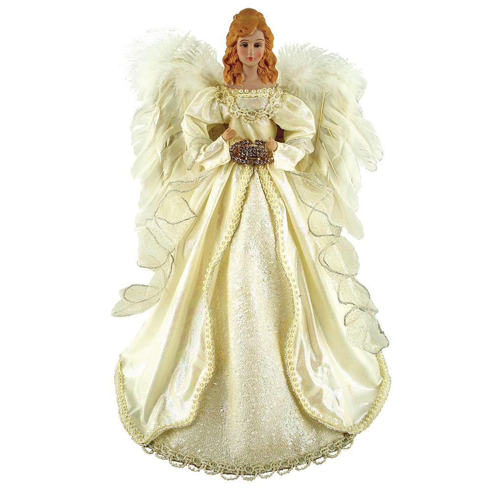 16 in. Majestic Cream Angel Tree Topper