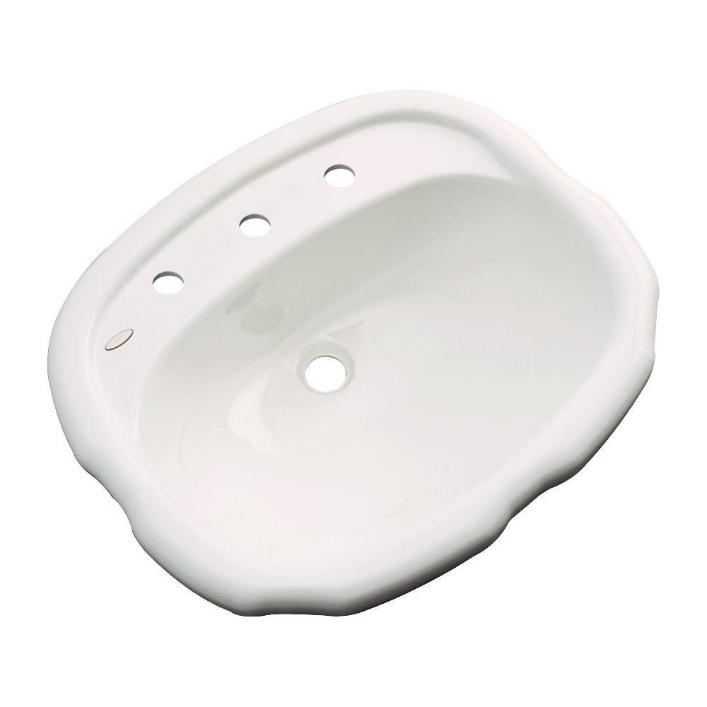 null Aymesbury Drop-In Bathroom Sink in Almond