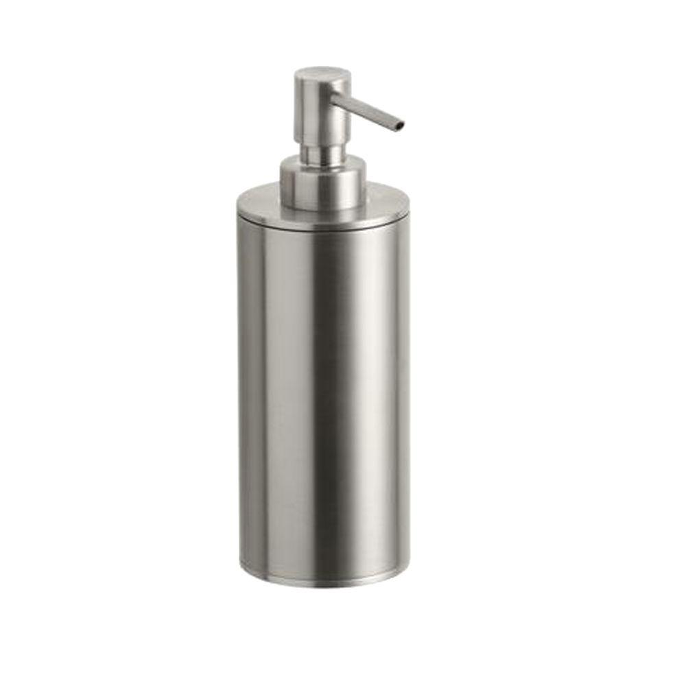 Purist Countertop Metal Soap Dispenser in Vibrant Brushed Nickel