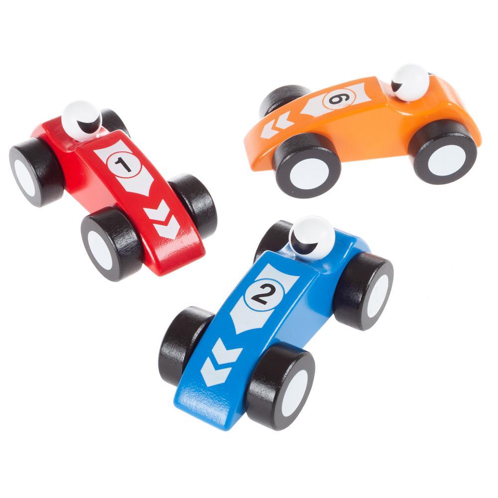 Wooden Race Car Set