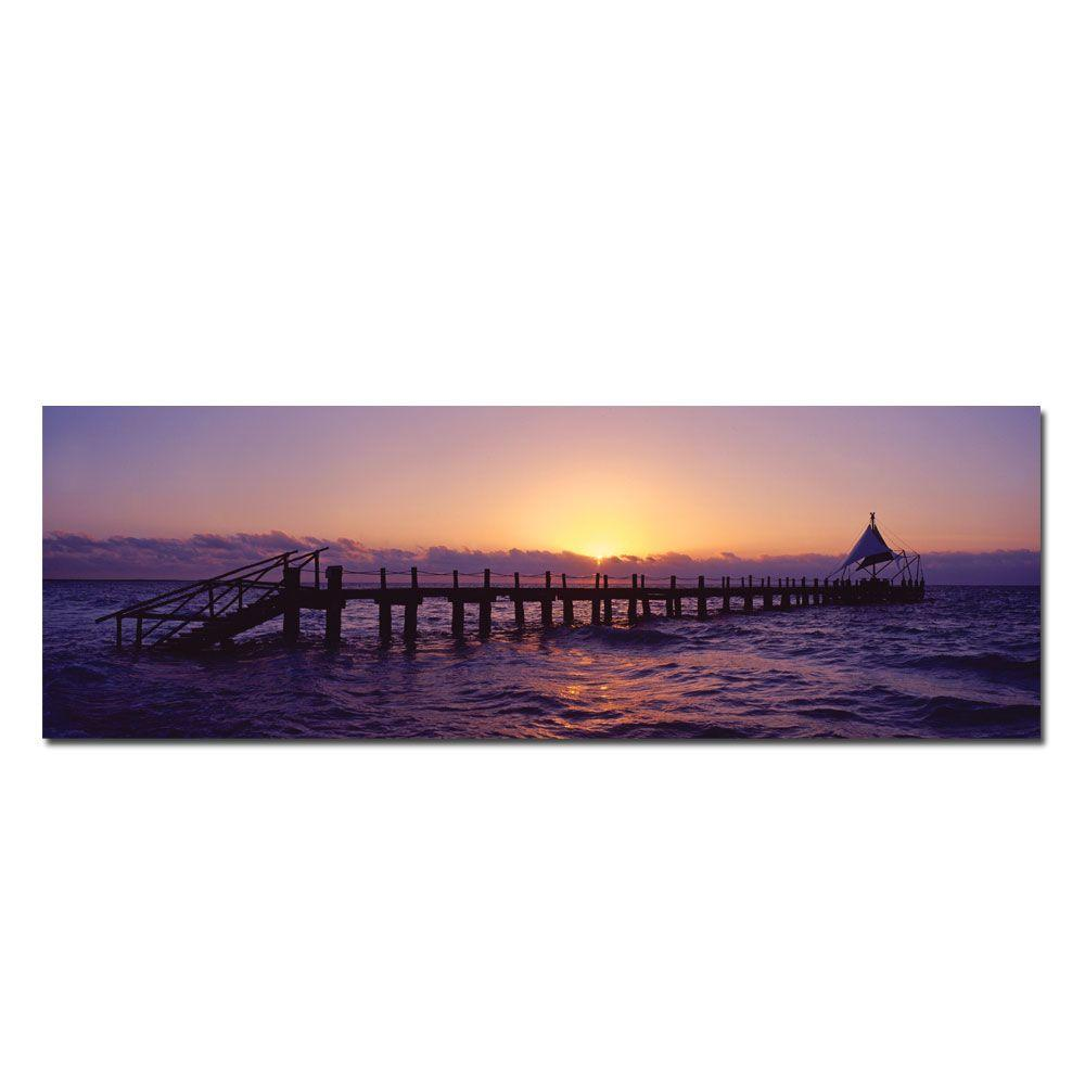 null 10 in. x 32 in. Mexican Sunrise Canvas Art
