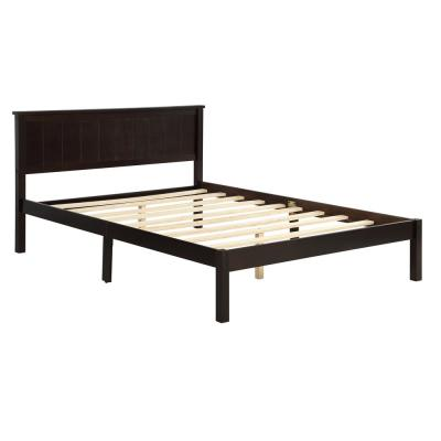Full Size Platform Bed with Headboard and Wood Slat