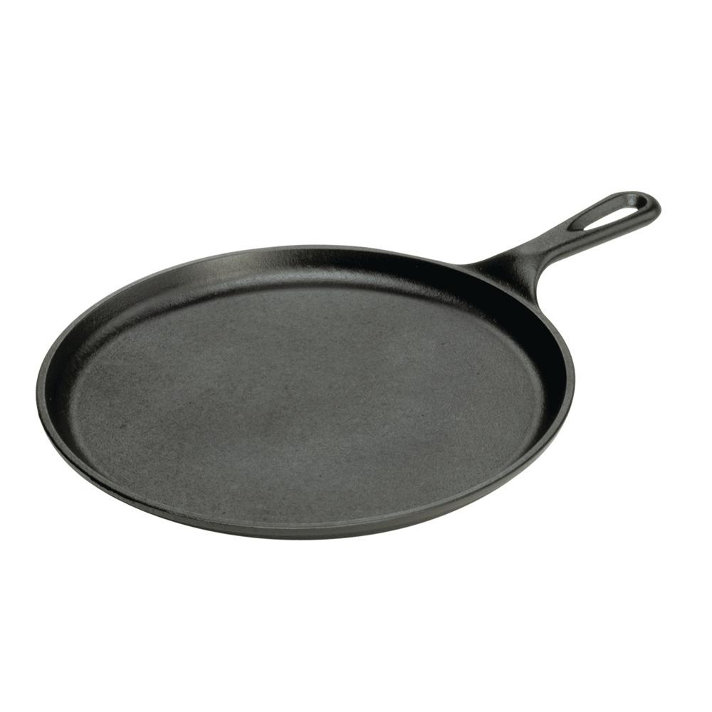 lodge 10 5 in round cast iron griddle easy care non stick. Black Bedroom Furniture Sets. Home Design Ideas