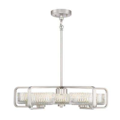 150-Watt Equivalence Brushed Nickel Integrated LED Chandelier