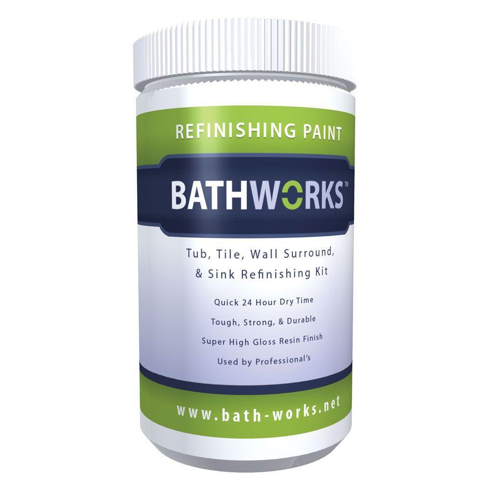 BATHWORKS 20 oz. DIY Bathtub and Tile Refinishing Kit- Almond