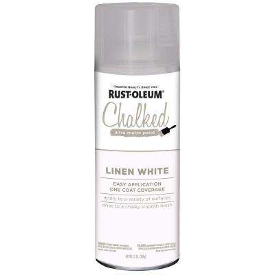 12 oz. Chalked Linen White Ultra Matte Spray Paint (6-Pack)