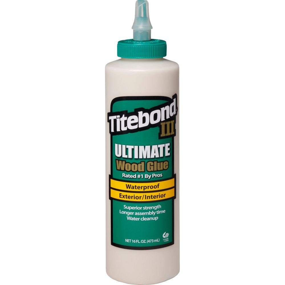 Titebond III 16 oz. Ultimate Wood Glue-1414 - The Home Depot