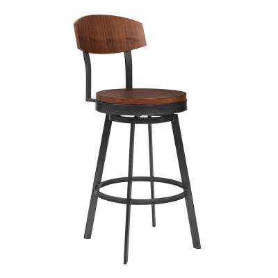 Conway 38 in. Walnut Barstool