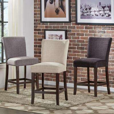 Whitmire 24 in. Charcoal Cushioned Bar Stool (Set of 2)