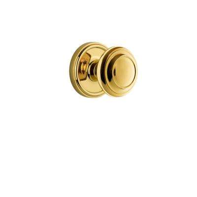 Georgetown Plate 2-3/8 in. Backset Polished Brass Privacy Bed/Bath with Circulaire Door Knob