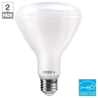 65W Equivalent Soft White (2700K) BR30 Dimmable Exceptional Light Quality LED Light Bulb (2-Pack)