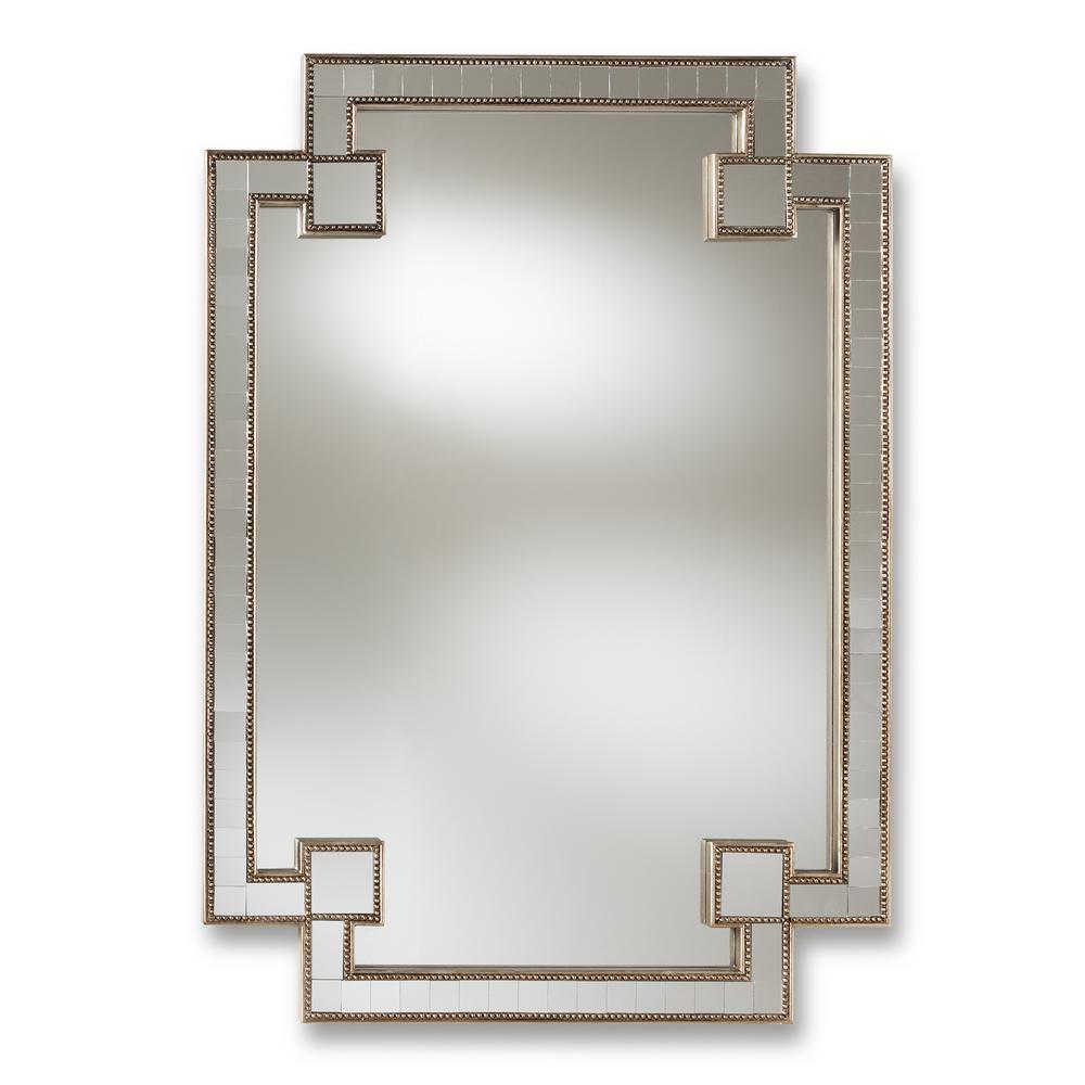 Fiorella Antique Silver Wall Mirror