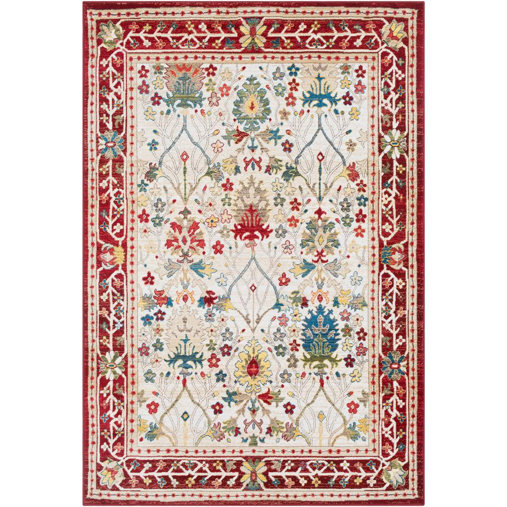 Artistic Weavers Articlave Red White 3 Ft X 5 Area Rug