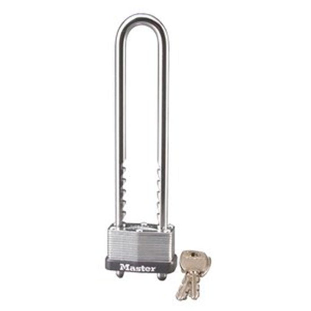 MASTERLOCK Master Lock 517D 1-3/4 in. Laminated Steel Keyed Padlock with Adjustable Shackle, Silver metallic