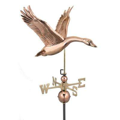 Feathered Goose Weathervane - Pure Copper