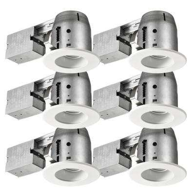 LED Glare Control / Directional 4 in. White Recessed Kit (6-Pack)