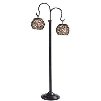 Castillo 63 in. Bronze Outdoor Floor Lamp