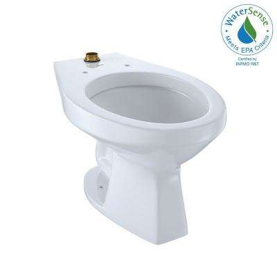 Flushometer 1.0 GPF Urinal with Top Spud and CeFiONtect in Cotton White