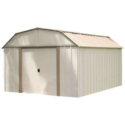 10 ft. W x 14 ft. D x 7 ft. H Lexington High-Gambrel Galvanized Steel Storage Shed in Eggshell with UV-Resistant Panels