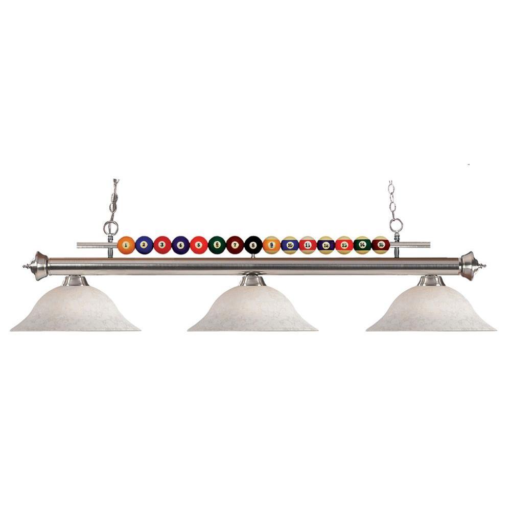 Ace 3-Light Brushed Nickel Island Light  sc 1 st  Home Depot & Filament Design - Pool Table Lights - Lighting - The Home Depot azcodes.com