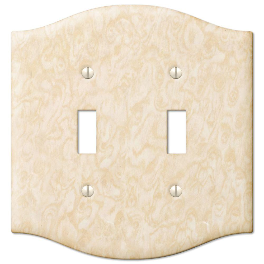Creative Accents Steel 2 Toggle Wall Plate - Satin Honey