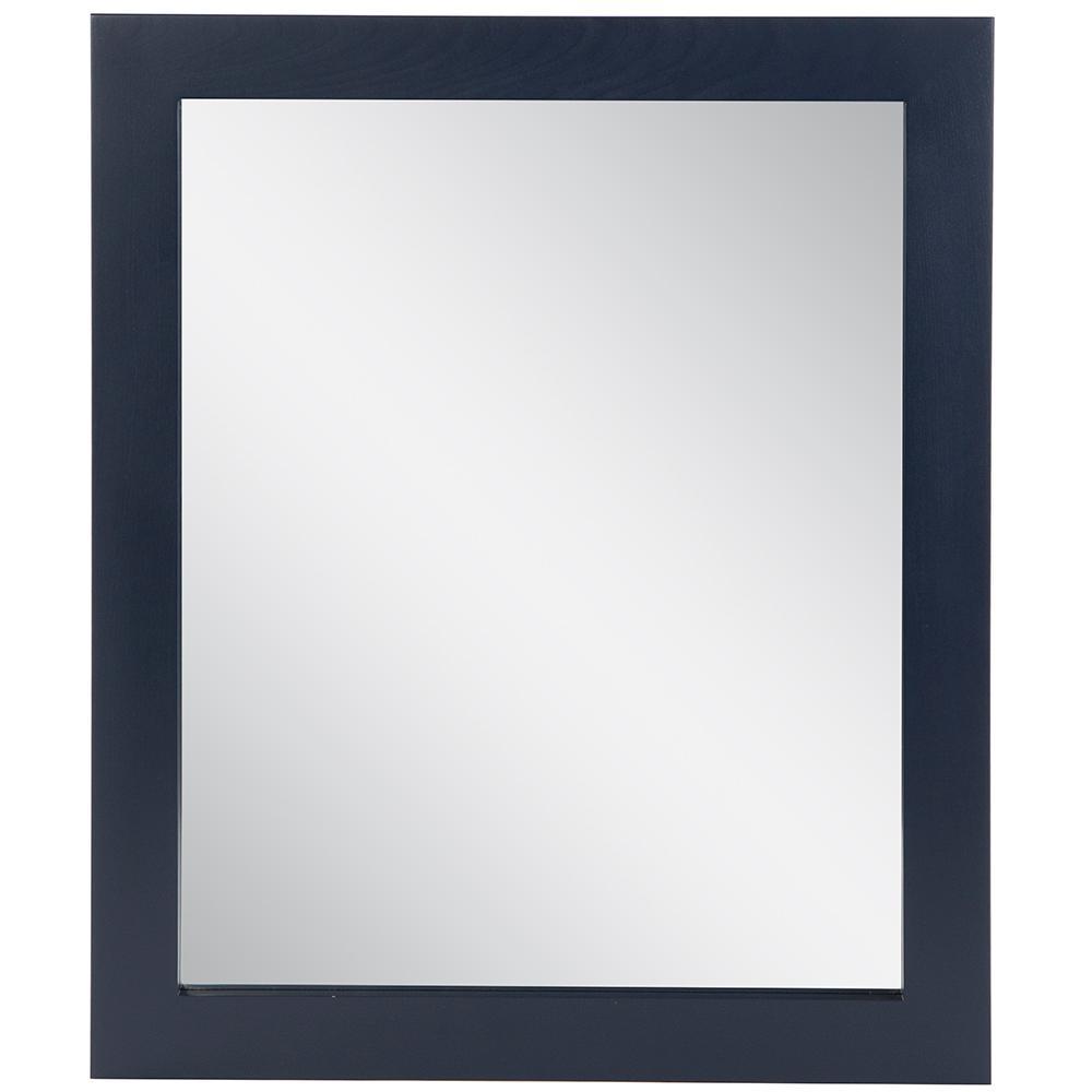 25.67 in. W x 31.38 in. H Framed Rectangular Bathroom Vanity Mirror in Blue