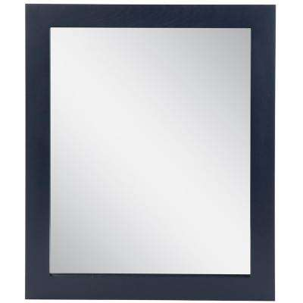 31 in. W x 26 in. H Wood Framed Wall Mirror in Blue