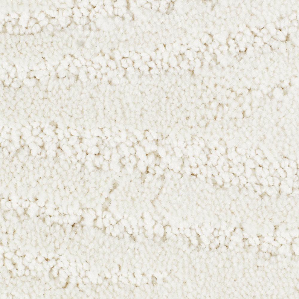 Carpet Sample - Echo Creek - Color Faux Pearl Pattern 8 in. x 8 in.