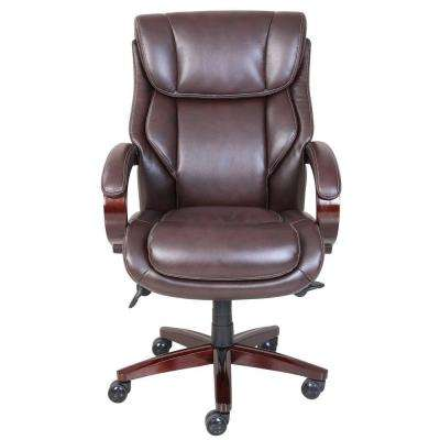 Bellamy Coffee Brown Bonded Leather Executive Office Chair
