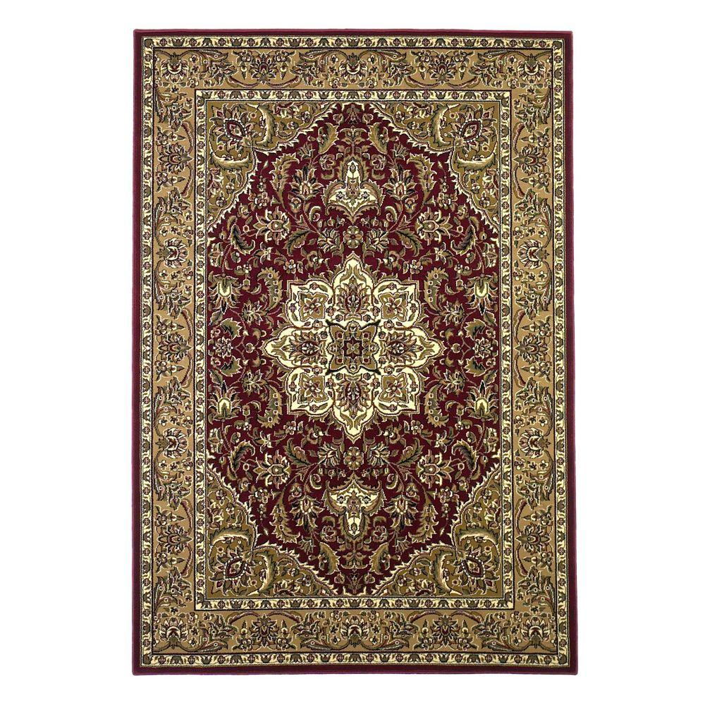Kas Rugs Classic Medallion Red Beige 3 Ft In X 4