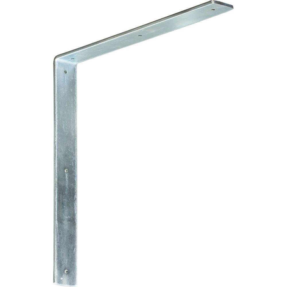 Ekena Millwork 16 in. x 2 in. x 16 in. Steel Unfinished Metal Hamilton Bracket