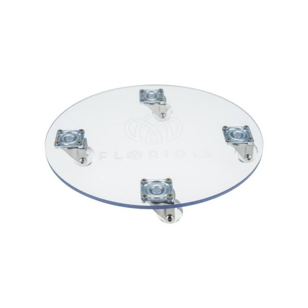 Round 11.81 in. x 2.4 in. Clear Polycarbonate Planter Caddy