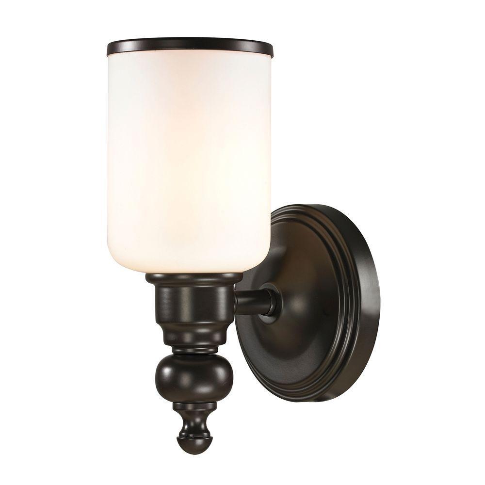 Leadenhall 1-Light Oil-Rubbed Bronze LED Bath Light