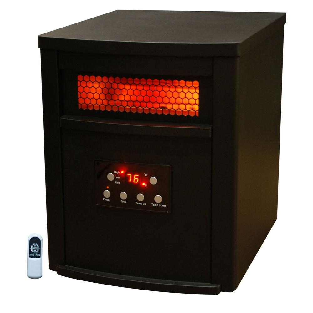 Life Zone 1500-Watt Quartz Infrared Medium Room Heater with Remote