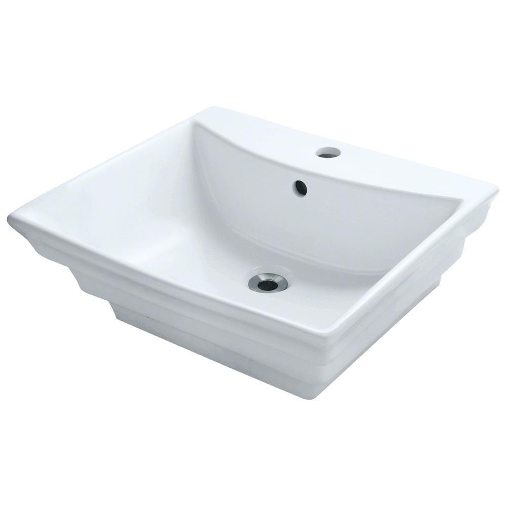 Porcelain Vessel Sink in White